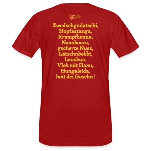 Bayrische Schimpfwörter Nr.3 - Männer Bio-T-Shirt