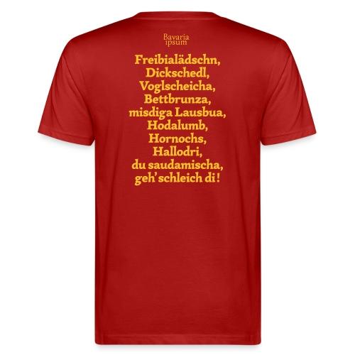 Bayrische Schimpfwörter Nr.2 - Männer Bio-T-Shirt