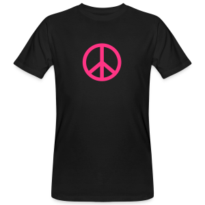 Gay pride peace symbool in roze kleur - Mannen Bio-T-shirt