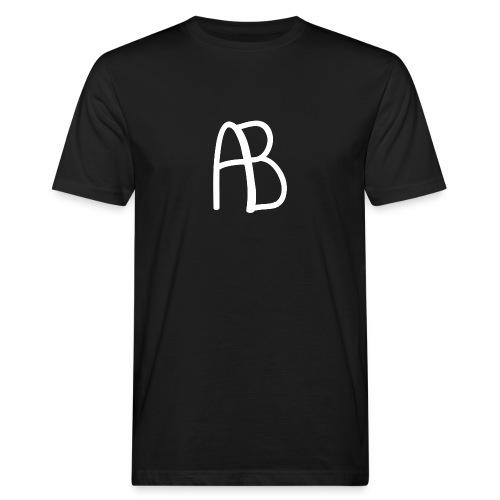 AB Hvit - Økologisk T-skjorte for menn