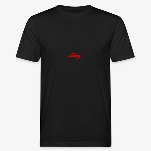 Cal Wardy Signature - Black T-Shirt - Red Font - Men's Organic T-Shirt