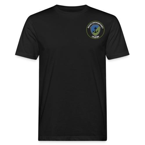 Basskydd 1.Pluton Vit Text - Ekologisk T-shirt herr