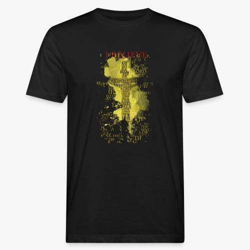 I believe / wierzę (yellow-żółty) - Ekologiczna koszulka męska