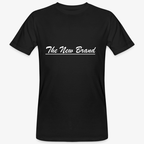 TheNewBrand logo wit - Mannen Bio-T-shirt
