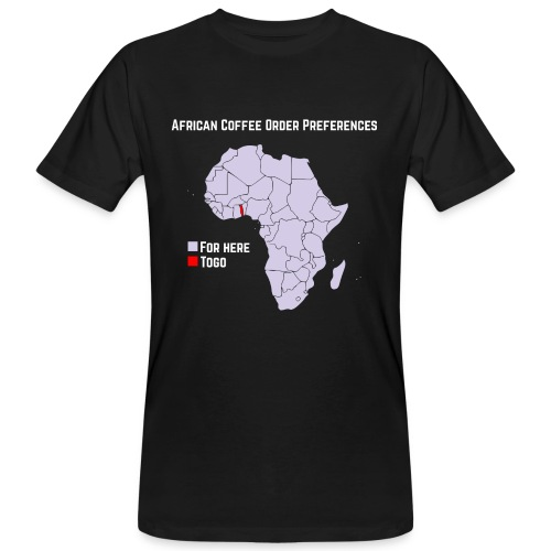 African Coffee Order Preferences - Männer Bio-T-Shirt