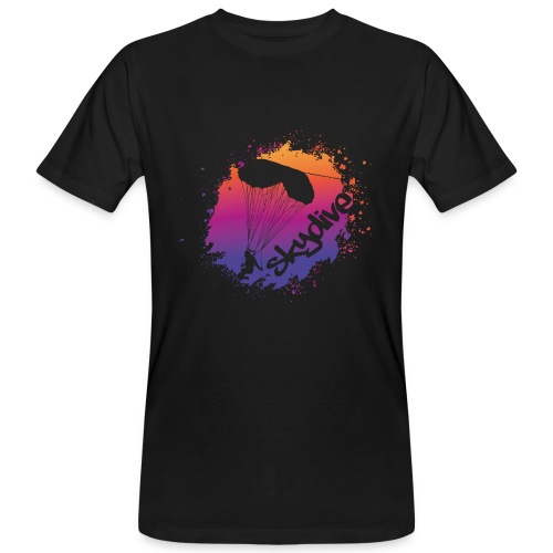 Skydive Watercolor - Männer Bio-T-Shirt