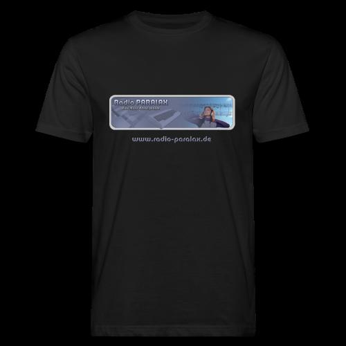 Radio PARALAX Classic-Logo mit Webadresse - Männer Bio-T-Shirt