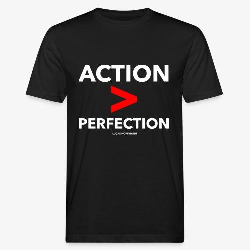 ACTION > PERFECTION - Männer Bio-T-Shirt
