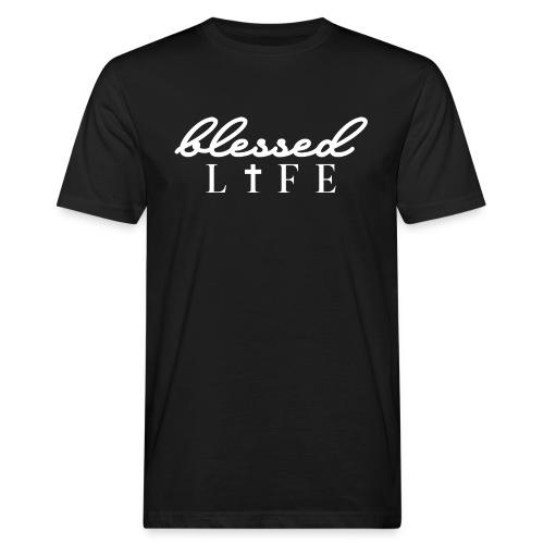 Blessed Life - Jesus Christlich - Männer Bio-T-Shirt