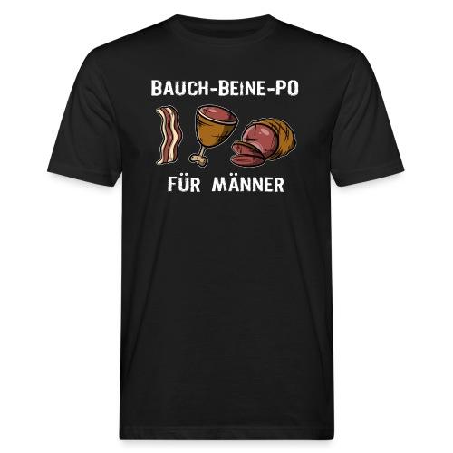 Bauch-Bein-Po - Für Männer, Grillfleisch VS Sport - Männer Bio-T-Shirt