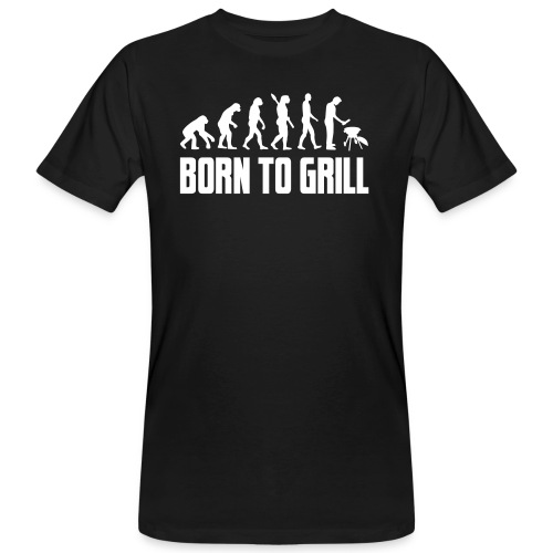 born to grill evolution - Männer Bio-T-Shirt
