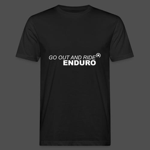 wyjść i jeździć enduro - Ekologiczna koszulka męska
