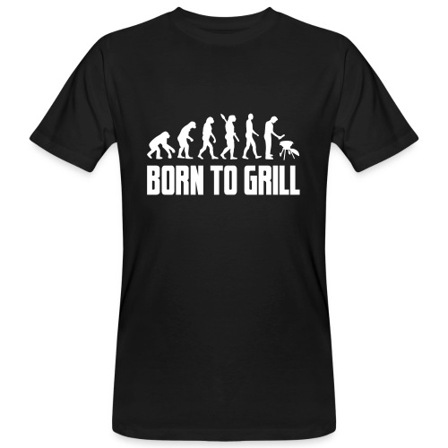born to grill evolution - Männer Bio-T-Shirt
