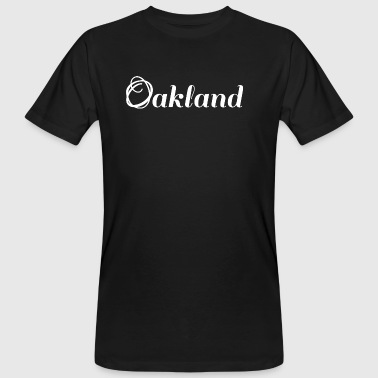 Oakland | logo | blanc - T-shirt bio Homme