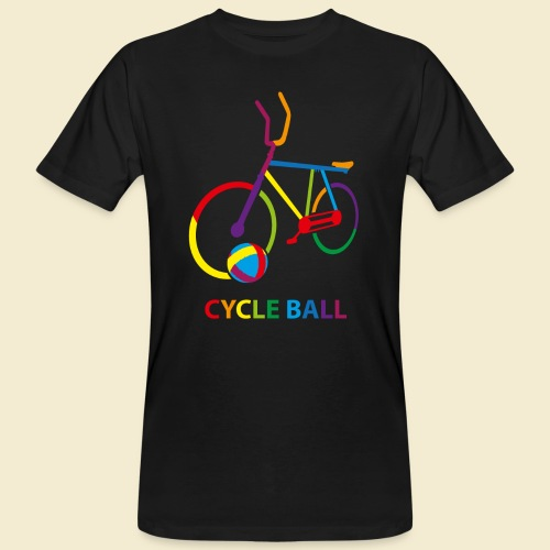 Radball | Cycle Ball Rainbow - Männer Bio-T-Shirt