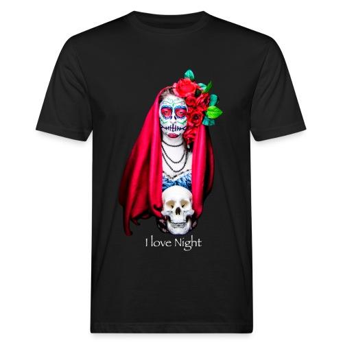 Catrina I love night - Camiseta ecológica hombre
