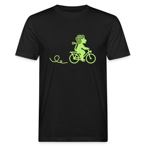 Züri-Leu beim Velofahren ohne Text - Männer Bio-T-Shirt