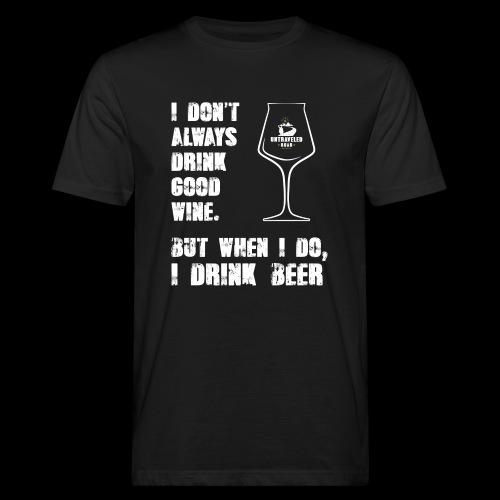 T-Shirt - I drink beer (schwarz) - Männer Bio-T-Shirt