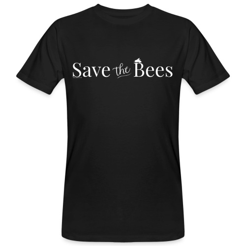Save The Bees (White) T-Shirt - Men's Organic T-Shirt