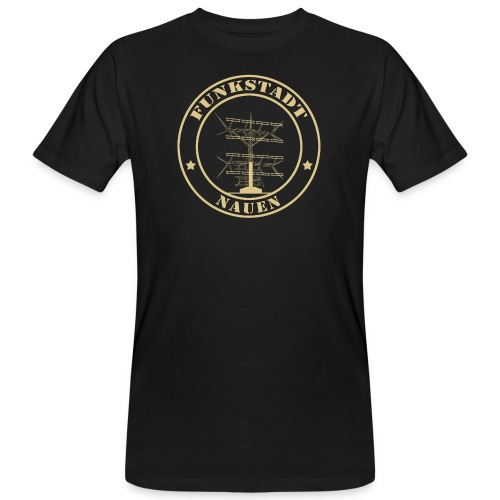 Goldener Funker - Männer Bio-T-Shirt