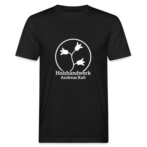 White Holzhandwerk logo - Men's Organic T-Shirt