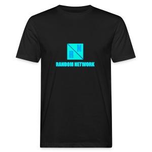 RandomNetwork Black T-SHIRT (Design 2) - Mannen Bio-T-shirt
