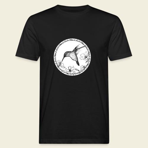 Kolibri Blüten Kreis - Männer Bio-T-Shirt