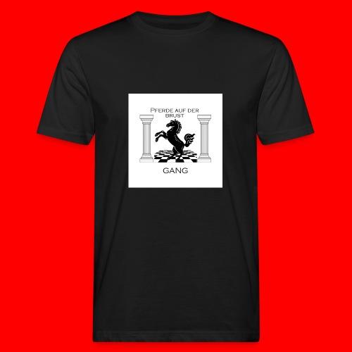 Pferde Auf Der Brust Gang - Männer Bio-T-Shirt