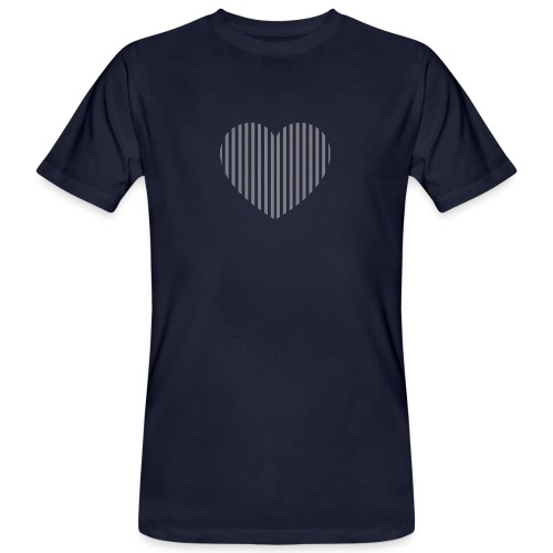 heart_striped.png - Men's Organic T-Shirt