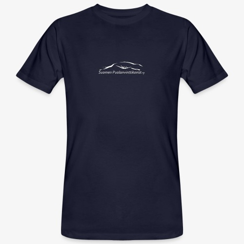 SUP logo valkea - Miesten luonnonmukainen t-paita