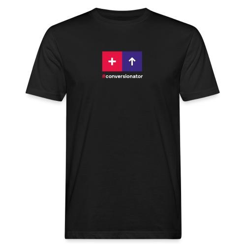 Conversionator mit Plus & Pfeil - Männer Bio-T-Shirt