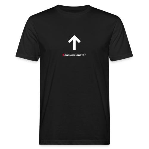 Conversionator mit Pfeil ohne Kreis - Männer Bio-T-Shirt