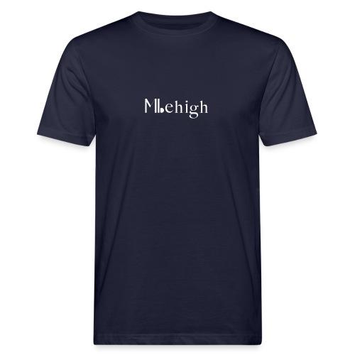 Milehigh Rags Logo White - Økologisk T-skjorte for menn