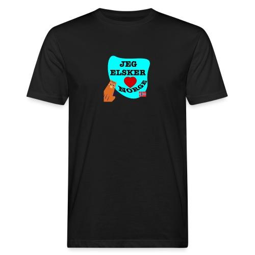 Jeg elsker Norge - Økologisk T-skjorte for menn