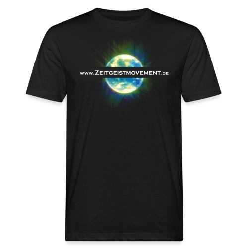 zeitgeist vorne - Männer Bio-T-Shirt