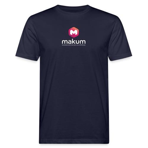 MAKUM Logo ja teksti - Miesten luonnonmukainen t-paita