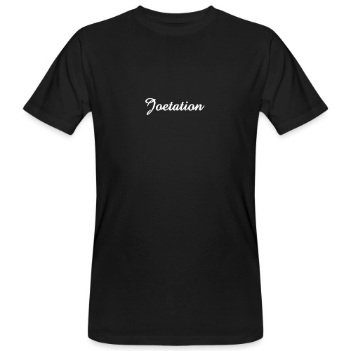 White Text Joetation Signature Brand - Men's Organic T-Shirt