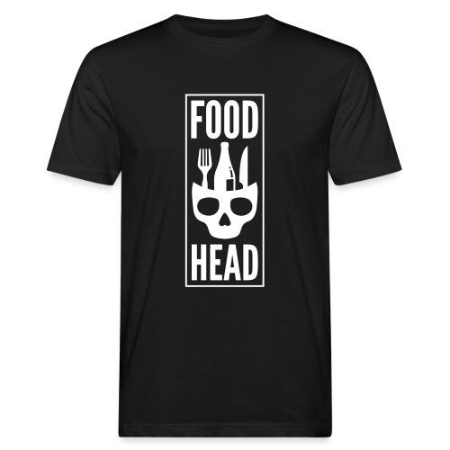 Foodhead_logo_helvit - Men's Organic T-Shirt