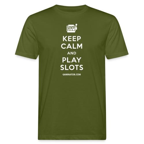 Keep Calm and Play Slots - Men's Organic T-Shirt