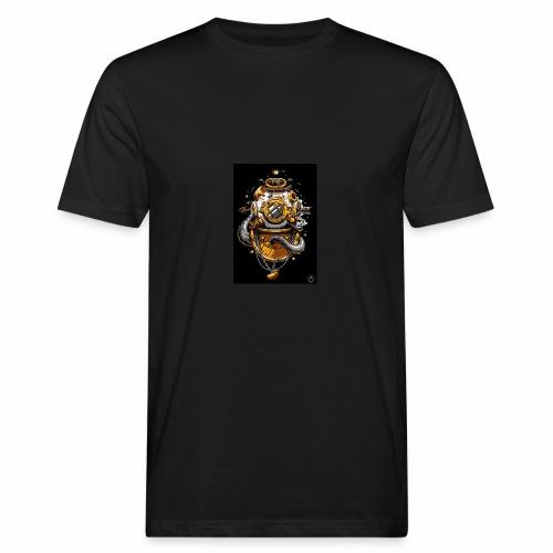 Dibujo de casco de buzo antiguo - Camiseta ecológica hombre