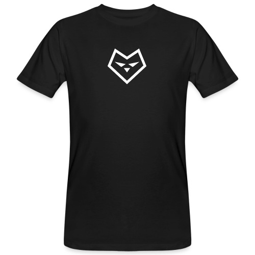 witte logo - Mannen Bio-T-shirt