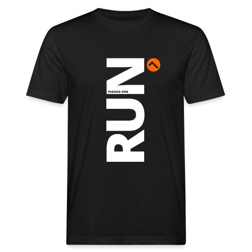 RUN mauna one orange, Geschnekidee, Geschenk - Männer Bio-T-Shirt