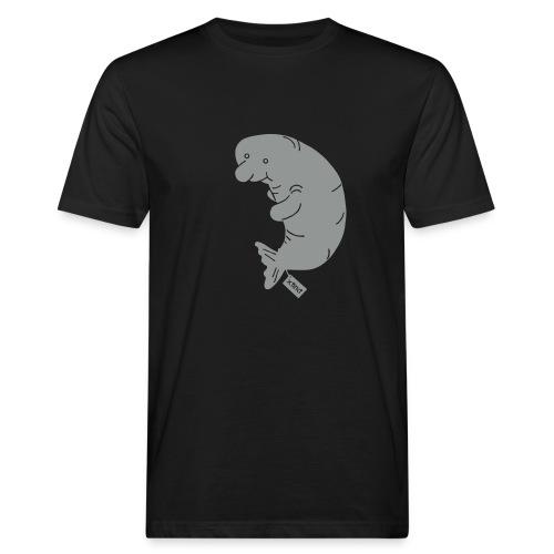 Sand/charcoal Seekuh - Riesenseekuh Langarmshirts - Männer Bio-T-Shirt