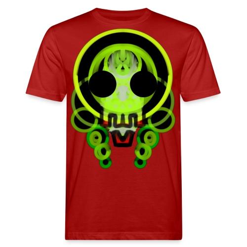 dead skull of loops of green light - Men's Organic T-Shirt
