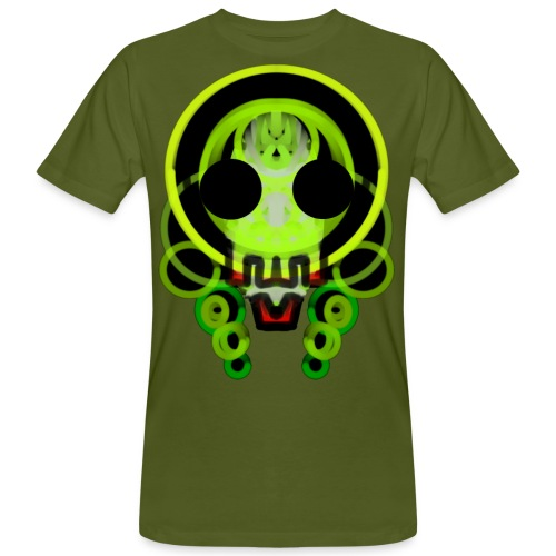 dead skull of loops of green light - Men's Organic T-Shirt