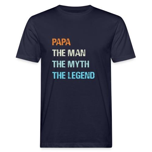 Papa de man de legende. Cadeau idee vaderdag. - Mannen Bio-T-shirt
