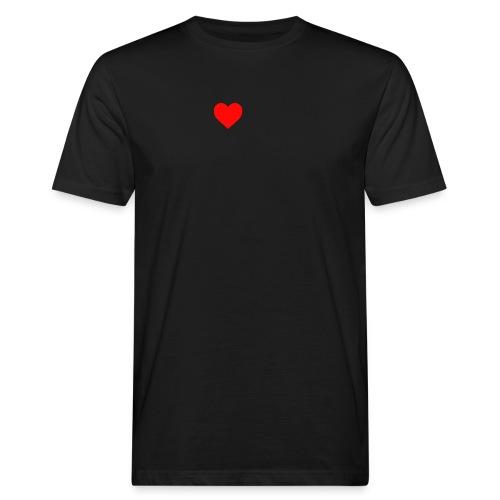 sydän - Miesten luonnonmukainen t-paita
