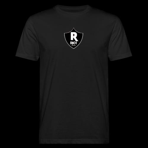 riot Nation logo schwarz - Männer Bio-T-Shirt