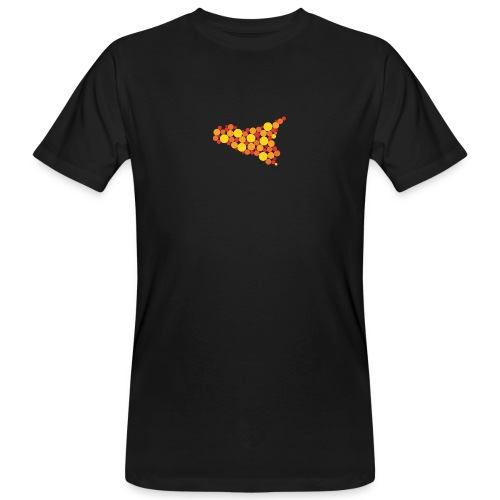 logo sicilia piccolo - T-shirt ecologica da uomo