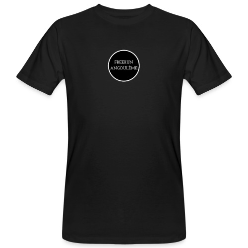 freerun noir logo - T-shirt bio Homme